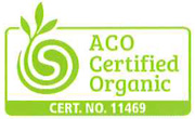 ACO certified organic label/logo